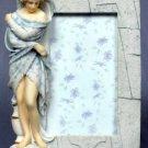 WINTER LADY PICTURE FRAME-GREEK MYTHOLOGY-ROMAN FIGURINE (6841)