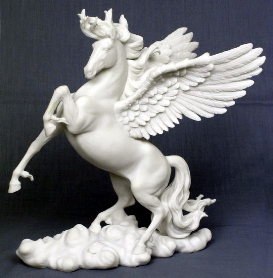 PEGASUS W OPEN WINGS-HORSE-FIGURINE-STATUE (7022)