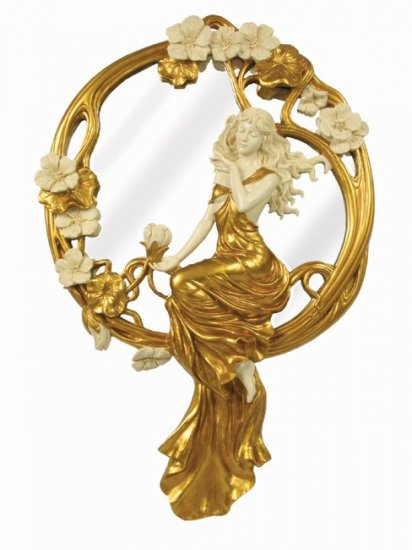 ART NOUVEAU LADY WALL MIRROR (6933)