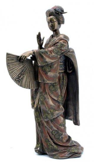 JAPANESE GEISHA SADAYAKKO BRONZE LIKE STATUE-FIGURINE (6957)