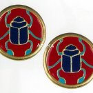 ANCIETN EGYPTIAN-SCARAB STUDS-EARRING-CUTE (2435S)