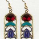 ANCIENT EGYPTIAN SCARAB CARTOUCHE EARRING (2453S)