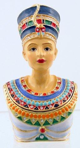 NEFERTITI JEWELED BOX-EGYPTIAN (3380)
