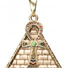 ANKH PYRAMID PENDANT NECKLACE.EGYPTIAN NICE JEWELRY.2715s