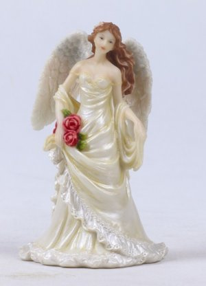 ANGEL BRIDE CAKE TOPPER. FIGURINE. STATUE (7868)
