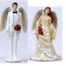 ANGEL BRIDE/GROOM BEAUTIFUL BRIDAL WEDDING CAKE TOPPER (7866,68)