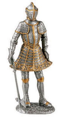 KNIGHT WITH AXE-FIGURINE-STATUE PEWTER (6962s)