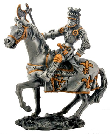 MEDICI KNIGHT ON HORSE -FIGURINE-STATUE PEWTER (6957S)