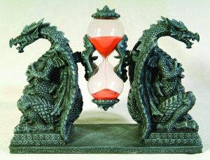 DRAGON SANDTIMER-HOUR GLASS-FIGURINE-STATUE (6686)