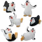 SET OF 6-CUTE PENGUINS-FIGURINES-MARCH OF PENGUINS (5268)