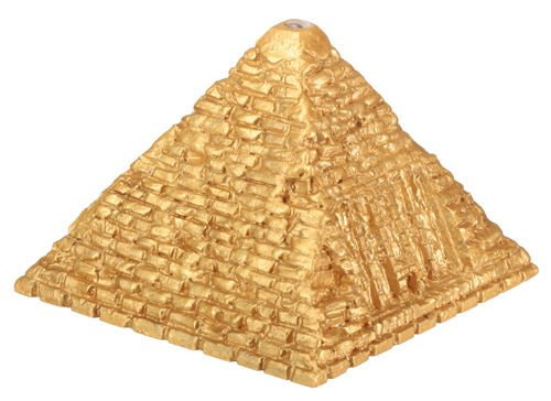 EGYPTIAN FLASHING LIGHTED GOLDEN PYRAMID-NEW