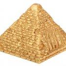 EGYPTIAN FLASHING LIGHTED GOLDEN PYRAMID-NEW