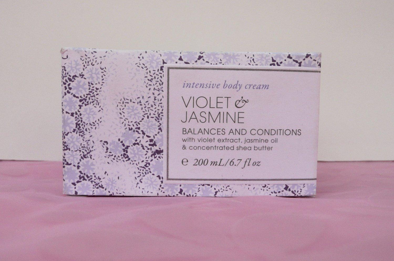 Victoria's Secret Violet and Jasmine Intensive Body Cream.