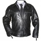 Men jacket leather jacket men bomber jacket Free Shipping to Australia & New Zealand!!