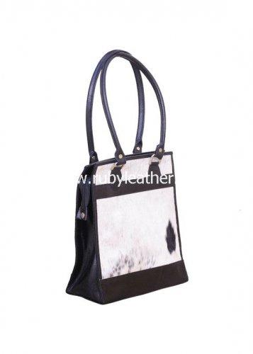 cowhide handbag leather purse shopper bag by Ruby Leather Free Shipping to Australia & NewZealand