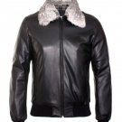 Men leather pilot Jacket  Men cow leather jacket Free Shipping to Australia & New Zealand