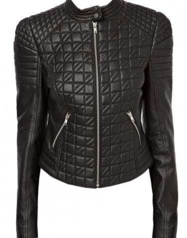 Designer Women bomber leather jacket with Front quilted Free Shipping to Australia & New Zealand!