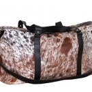 Cowhide leather Duffle bag weekend bag Overnight bag free shipping to Australia & NewZealand