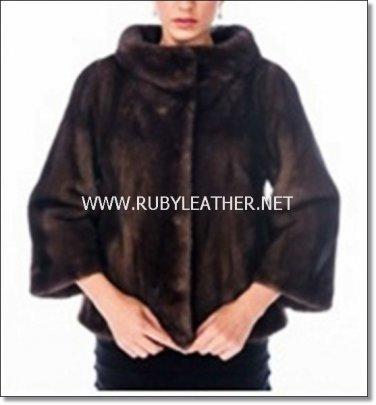 Boat Neck Mink Jacket,Mink fur coat,fur coat for women,ladies fur coat