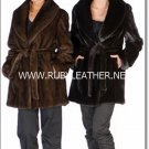 Mink Jacket with Tie Belt for women, ladies fur coat , mink fur coat for women
