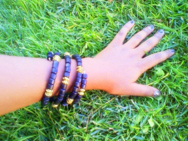 Black and gold African Bracelets
