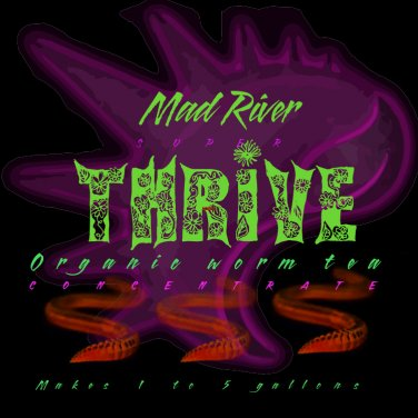 Mad River THRIVE organic worm tea concentrate 16 oz.