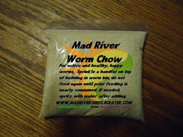 Worm Chow approx 10 0z. Gets 'em Wigglin!