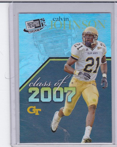 CALVIN JOHNSON ROOKIE 2007 PRESS PASS SE CLASS OF 2007 #CL-7