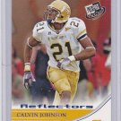 CALVIN JOHNSON ROOKIE 2007 PRESS PASS BLUE REFLECTOR #18