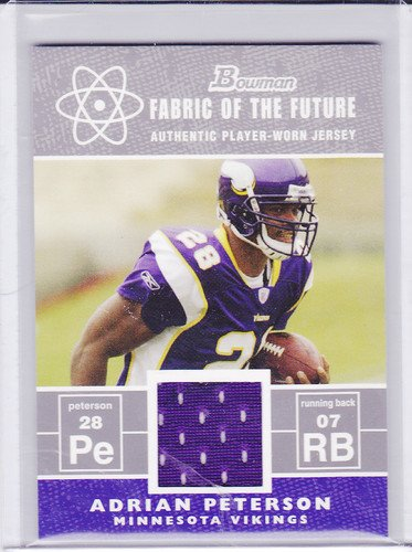 ADRIAN PETERSON 2007 BOWMAN JERSEY FABRIC OF THE FUTUTRE #FFAP ROOKIE
