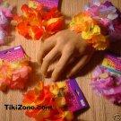 12 Pair - Hawaiian Flower Lei Bracelets - Luau Tiki