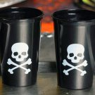 50 Pirate Shot Glasses - Skull/Crossbones Flag Party