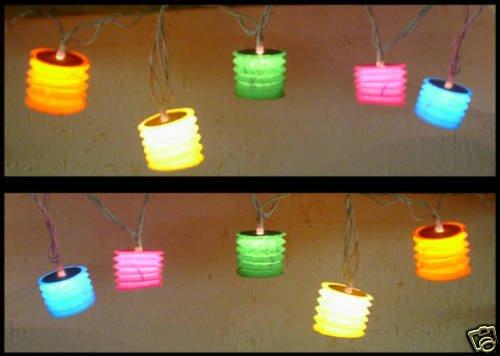 Japanese Paper Lantern Light String Set