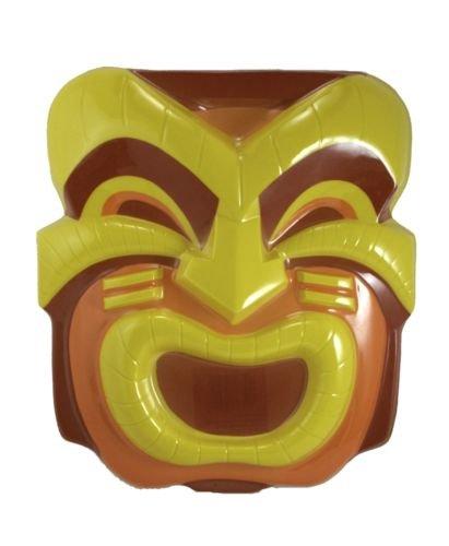 Set of 4 Smiling Tiki Head Luau Party Masks