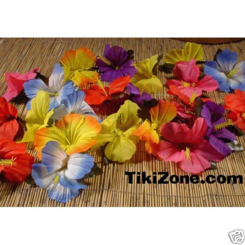 Tropical Flowers for Tabletop Decoration (24) Tiki Luau