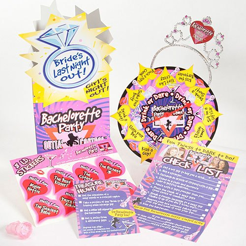 Bachelorette Party Novelty Game and Party Set  w/Tiara
