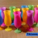 12 Multicolored Tropical Hurricane Glasses