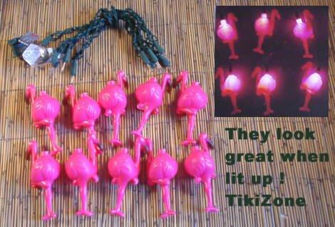 Tropical Pink Flamingo Light String Set - Chirstmas