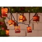 Bamboo Style Tiki Head Patio Light String Set