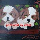 Twin Puppies Gated  Art Print