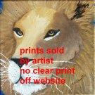 Lion face 8 by 8 art print