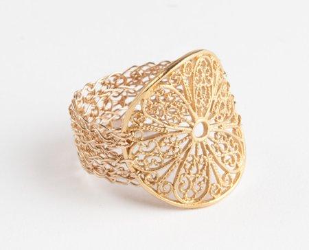 Ancient flower 14kt Gold filled ring