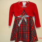 Christmas Dress w/Sweater, Size 18M