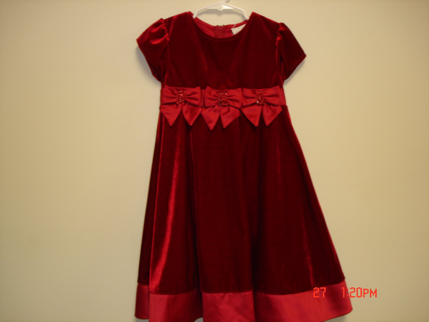 Red Christmas Dress, Size 5