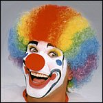 CLOWN Rainbow Wig and Red Nose- Circus Costume