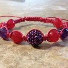 Rhinestone Bracelet Purple & Pink