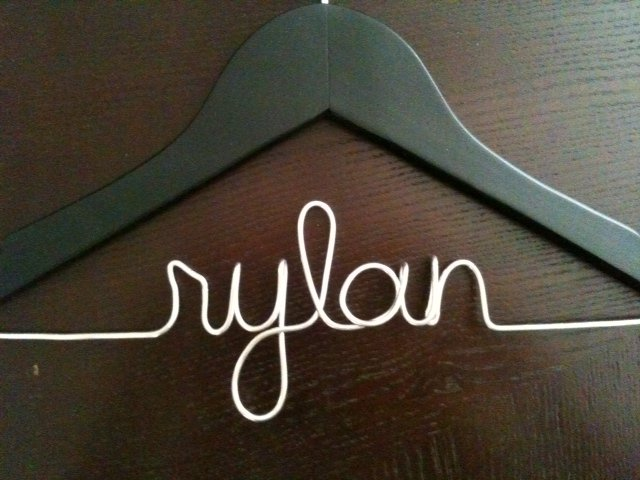 Children's Hanger - BLACK - customized with name