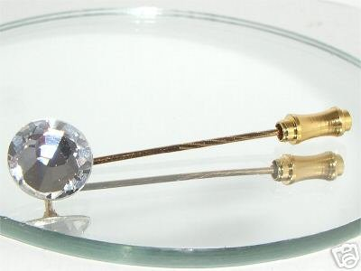 11mm Crystal Cravat  Pin made with SWAROVSKI ELEMENTS