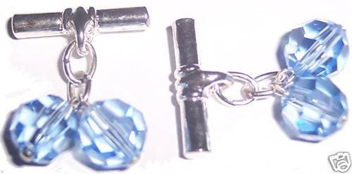 Crystal T-Bar Cufflinks made with SWAROVSKI ELEMENTS
