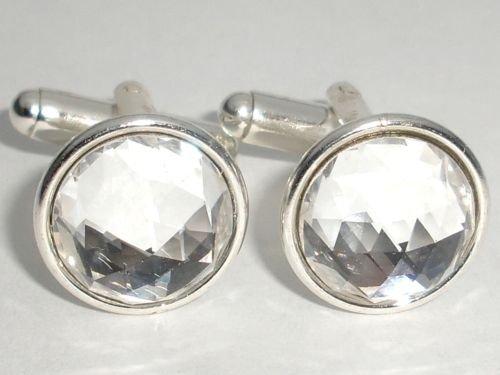 Wedding Party Crystal Groom Usher Gift Cufflinks made with SWAROVSKI ELEMENTS